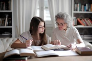 grandma discussing power of attorney and parents moving in