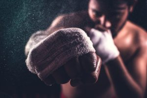 boxing gloves to show combating dementia